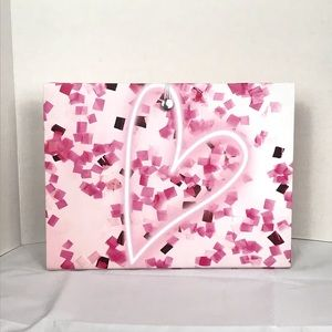 Other - NWT Pink Heart File Folding Organizer 12 Pockets